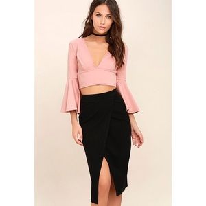 Lulus High Waisted Skirt with Slit